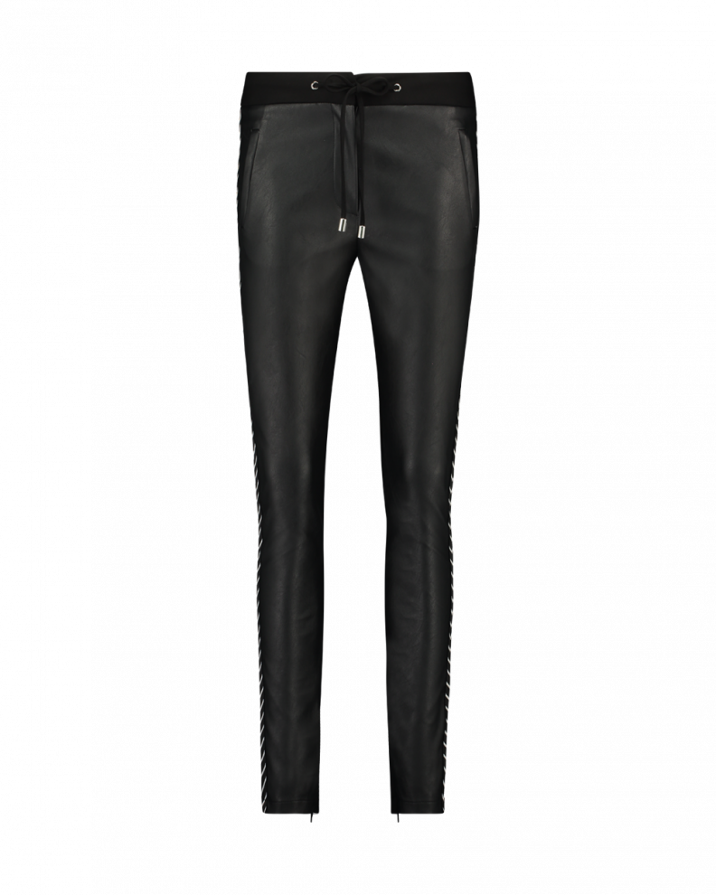 Sosa Stripe Trousers Black