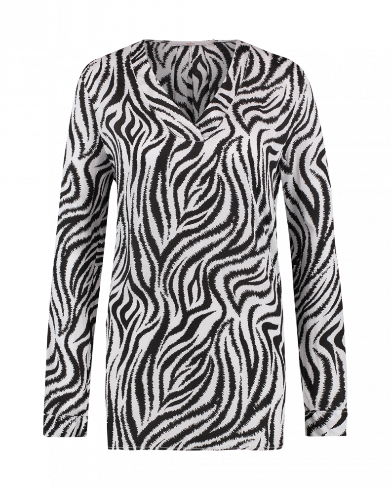 Meride zebra top white