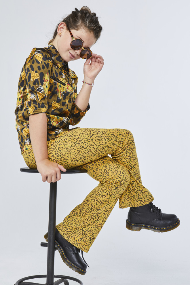 Craig Leopard Trousers Yellow