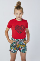 Lizzie Heart T-Shirt Red