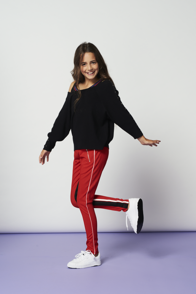 Lines trousers red