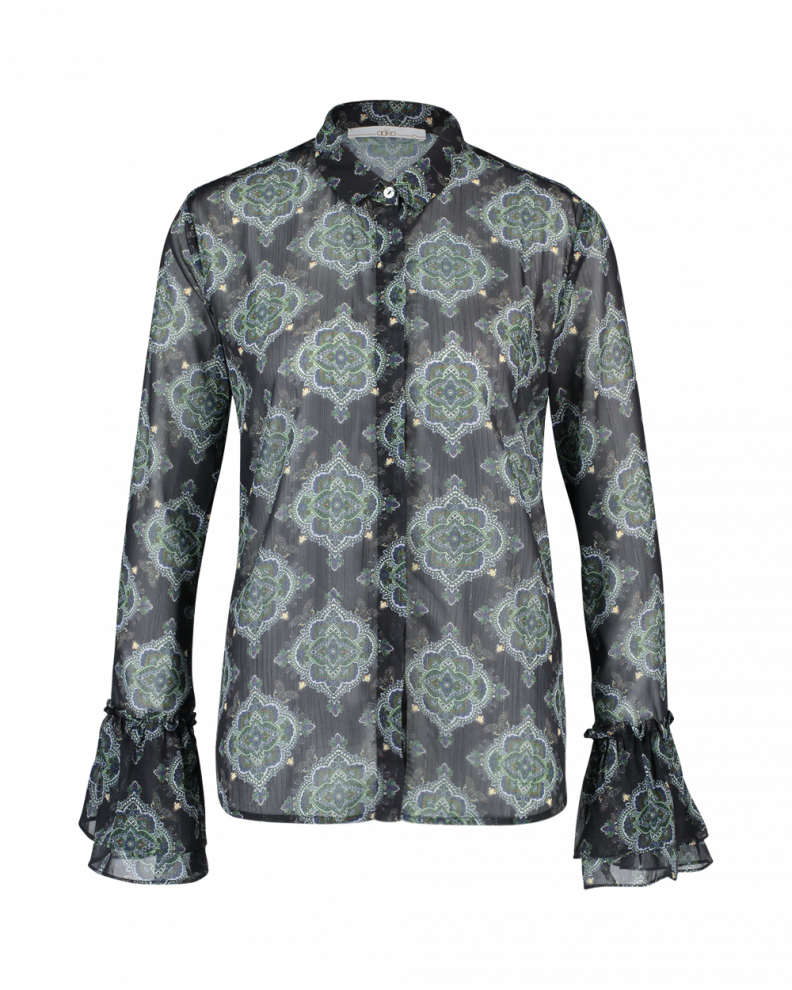 Puck floral blouse green