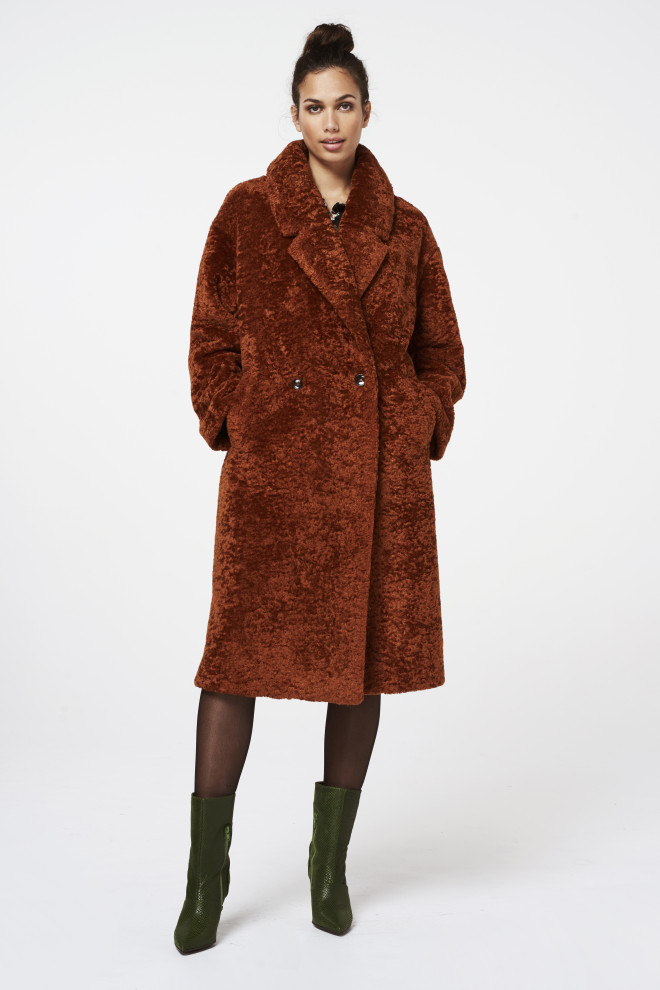 Ginie Coat Brown