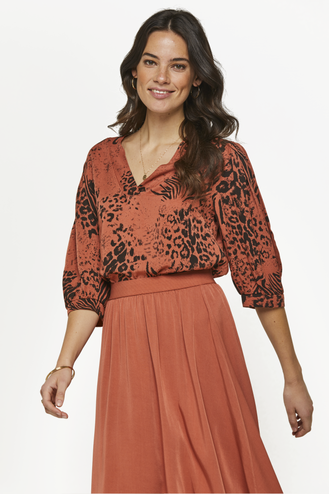 Mayra blouse orange