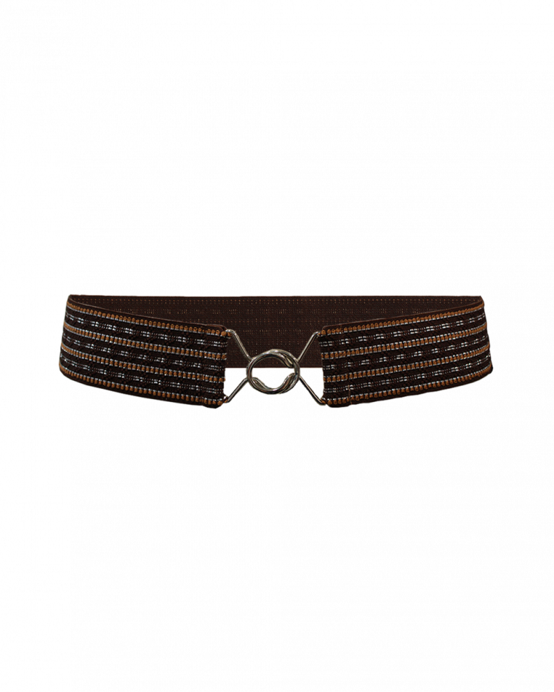 Elesta Ethnic Belt Brown