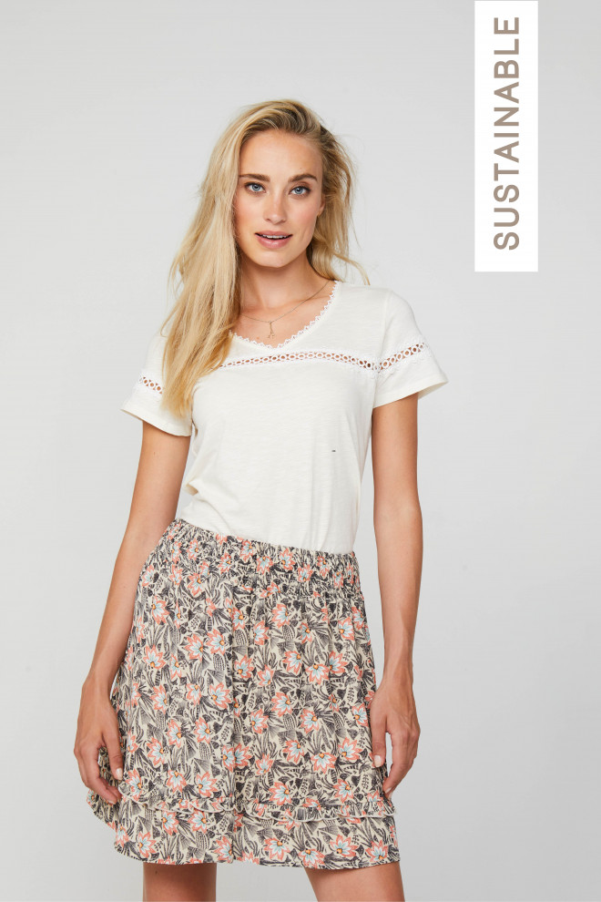 Janey Top White