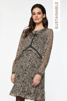 Talise Scratched Dress Brown