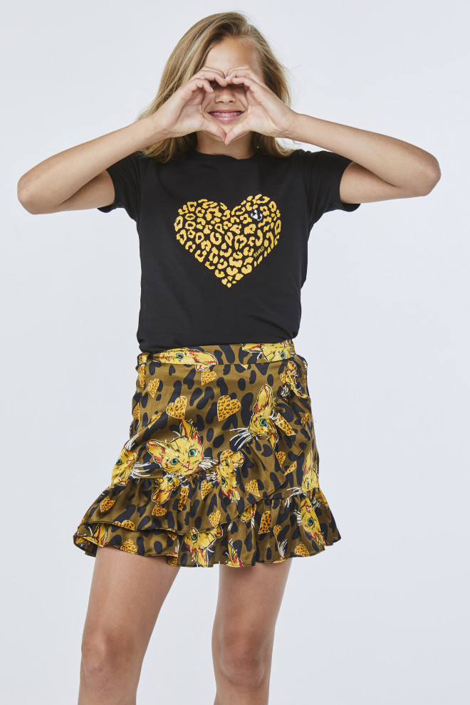 Lizzie Heart T-Shirt Black