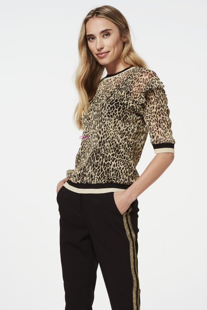 Inea leopard top yellow