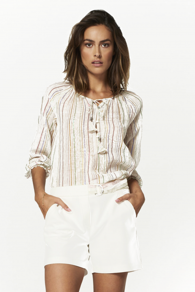 Plieska blouse white
