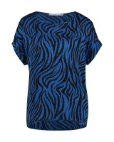 Merle zebra top blue