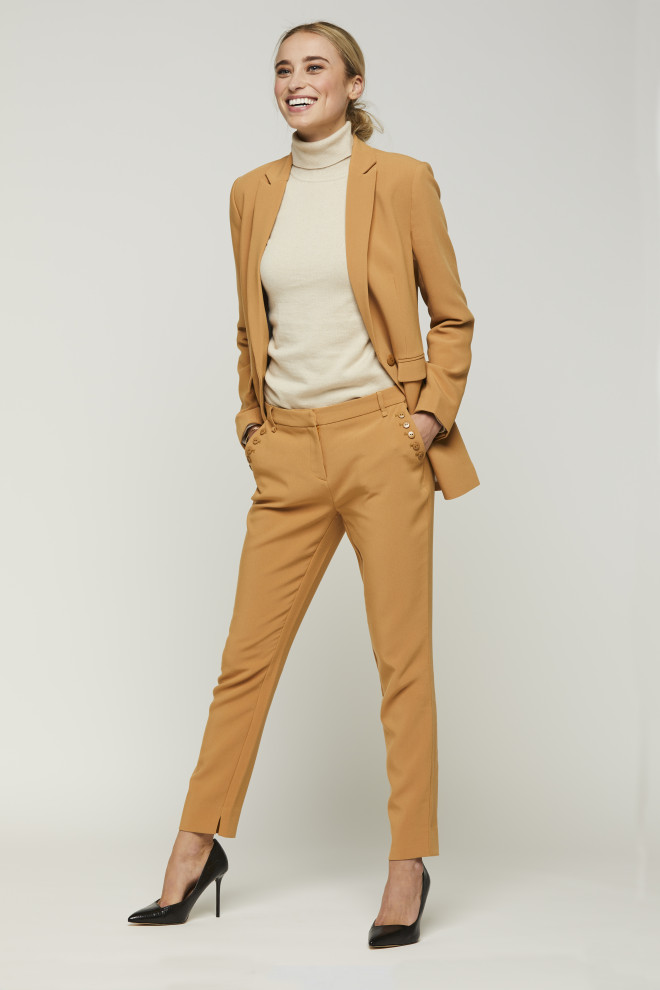 Parien Buttons Trousers Camel