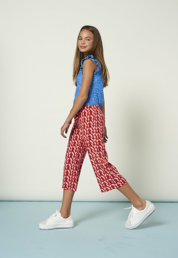Pondy graphic trousers red