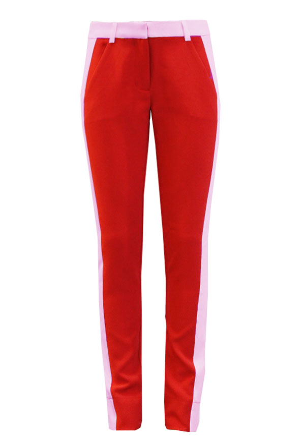 Parienny stripe trousers red