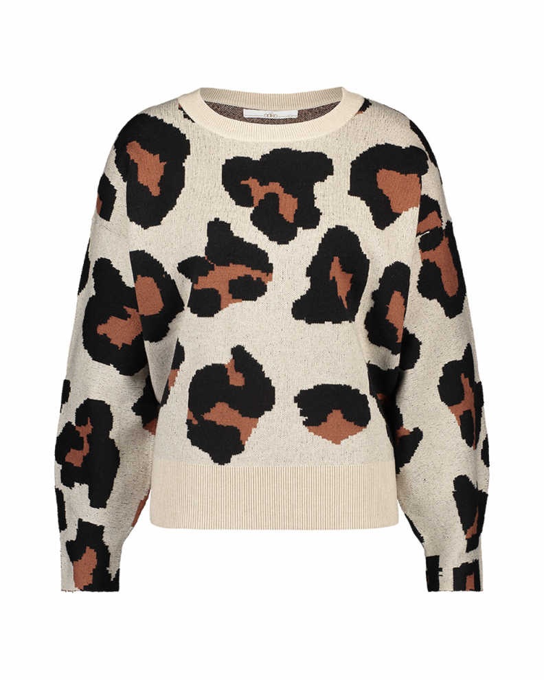 Verona Animal Sweater Beige