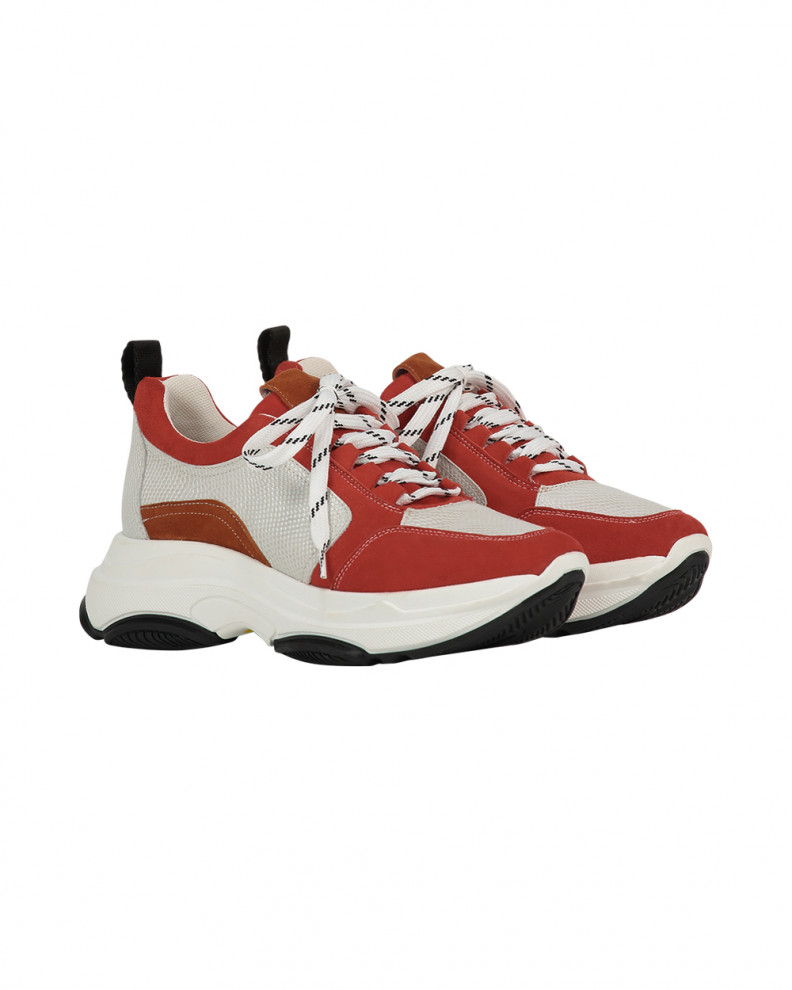 Brooklyn suede shoes red
