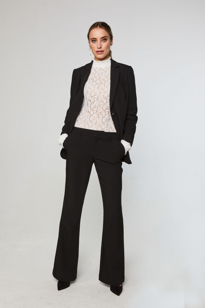 Flarene trousers black