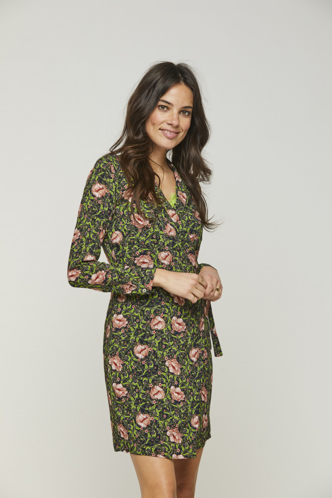 Green Flower Dress Fay