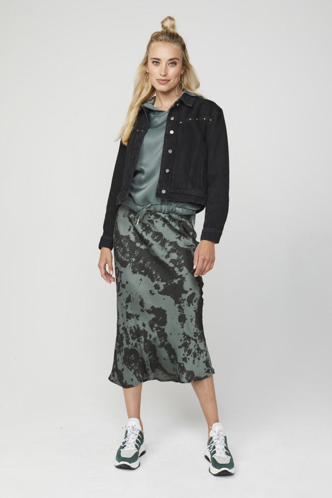 Anida Tiedye Skirt Green