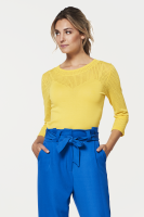 Odalys top yellow