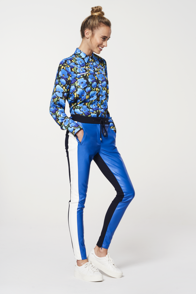 Sosa colourblock trousers blue