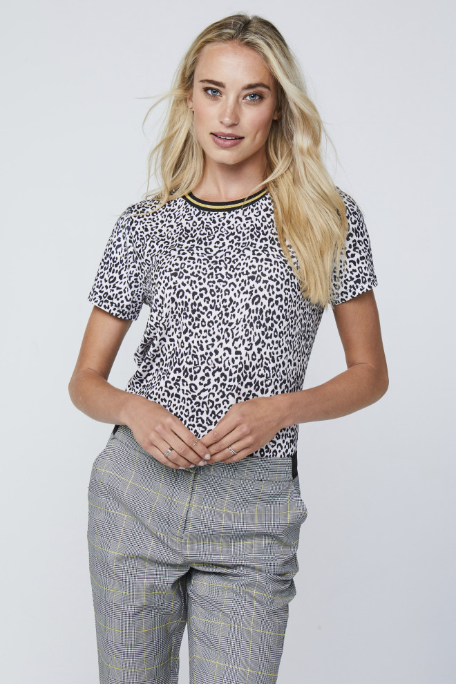 Alicia Panther Top White