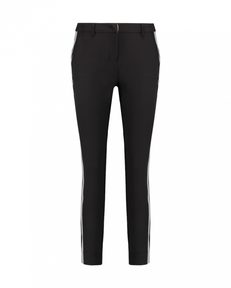 Parien tape trousers black