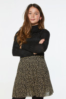 Loua Leaf Skirt Black