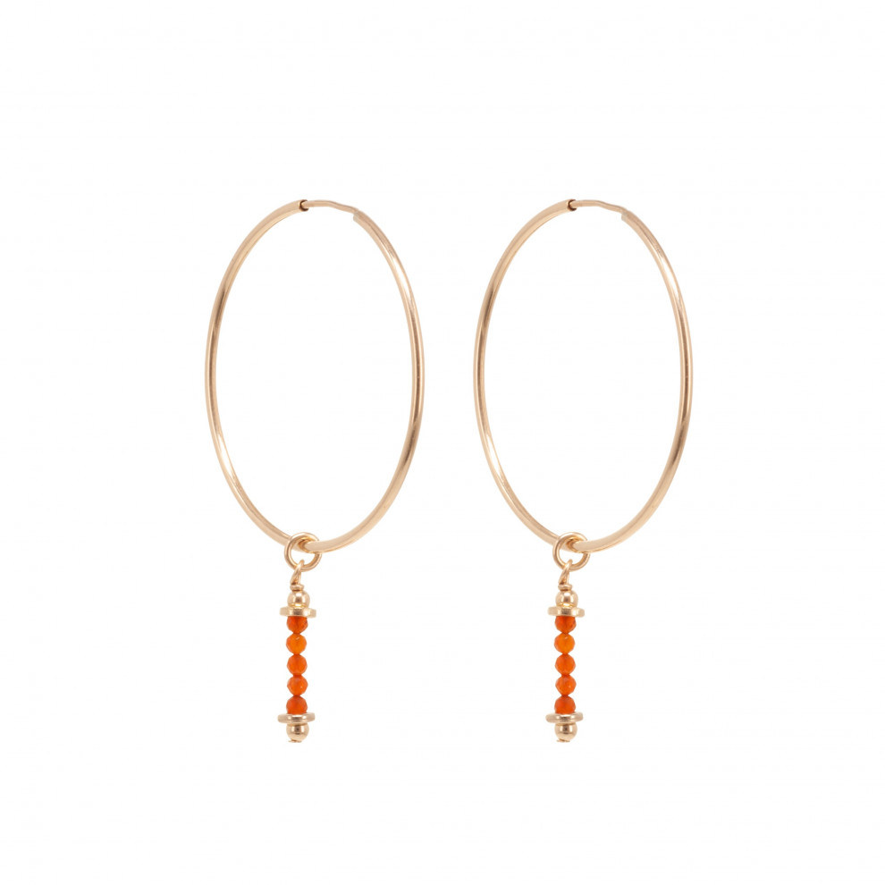 Havana Nights Orange Earrings